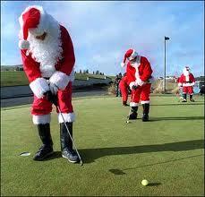 Santa putting