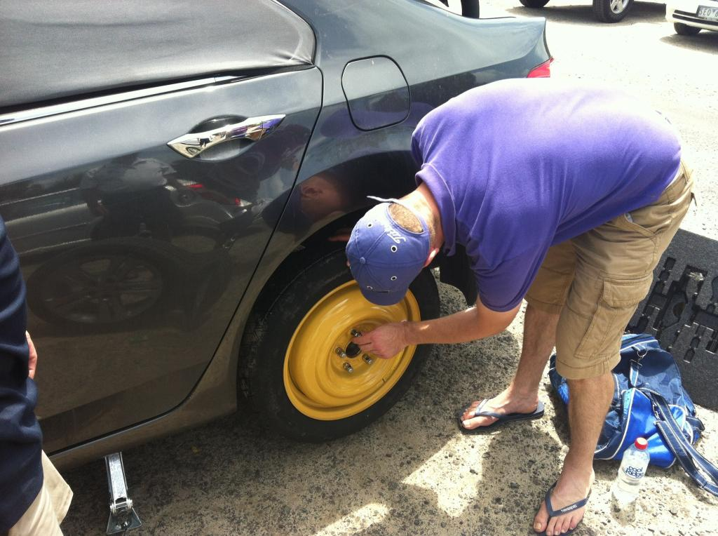Brendon's spare tyre
